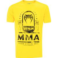 Camiseta Venum Mma Fight Team - Masculina - Amarelo