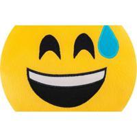 Almofada Capital Do Enxoval Emoji Sorriso C/ Gota De Suor Estampado
