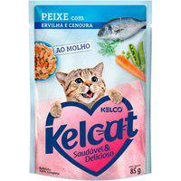 Ração Para Gatos Kelcat Peixe Com Ervilha E Cenoura Sachê 85G
