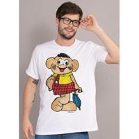 Camiseta Bandup! Turma Da Mônica Cascão Muro - Masculino-Branco