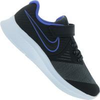Tênis Nike Star Runner 2 Glitter - Infantil - Preto/Azul