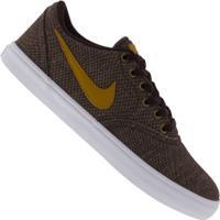 Tênis Nike Sb Check Solar Canvas Prm - Masculino - Vinho/Amarelo Esc