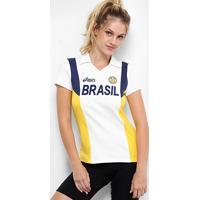 Camisa Vôlei Brasil Rêtro Asics Feminina - Feminino
