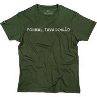 Camiseta Stoned Tava Doidão Masculina - Masculino-Verde