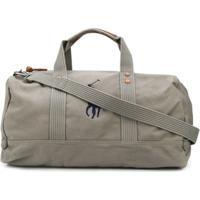 Polo Ralph Lauren Embroidered Logo Cotton Holdall - Cinza