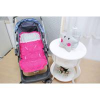 Capa De Carrinho De Bebê Pink Com Almofada - 2 Peças