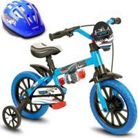 Bicicleta Infantil Veloz + Capacete Nathor - Unissex