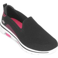 Tênis Skechers Go Walk 5 Prized Feminino - Feminino-Preto+Rosa