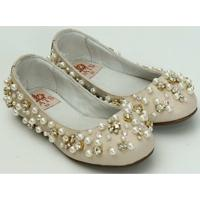 Sapato Feminino Perolas - Feminino-Bege