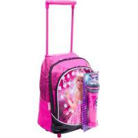 Mochila Infantil Barbie Rock N' Royals - Feminino-Rosa