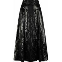 Rejina Pyo Malia Pleated Skirt - Preto