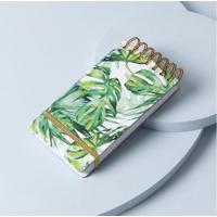Caderno Folhas Cor: Verde - Tamanho: Único