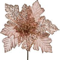Flor Decorativa Com Detalhes Em Relevo- Rosa Claro & Doucromus