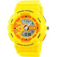 Relógio Skmei Anadigi 1052 Amarelo