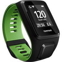 Monitor Cardíaco Com Gps Tomtom Runner 3 - Preto/Verde