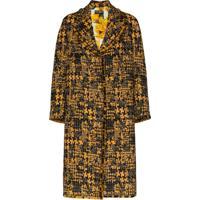 Dolce & Gabbana Sobretudo De Tweed Com Abotoamento - Preto