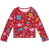 Blusa Vermelha Menina