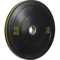 Anilha Olímpica Bumper Plate Para Musculação 15Kg Wct Fitness 10100515