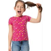 Blusa Rosa Barbie® Em Cotton