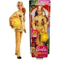 Boneca Barbie Colecionável Profissões Loira Quero Ser Bombeira Com Acessório Capacete - Edição Especial 60 Anos - Brinquedo Unissex Criança Ideal Para Menino E Menina - Mattel