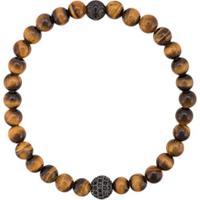 Nialaya Jewelry Pulseira De Olho De Tigre - Dourado