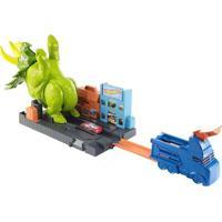 Pista E Veículo Hot Wheels -Smashin Triceratops Gbf97 Mattel
