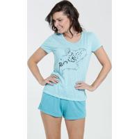 Pijama Feminino Listrada Estampa Frontal Marisa