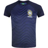 Camiseta Do Brasil Waves 19 - Masculina - Azul Escuro