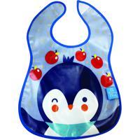 Babador Impermeável Atoalhado Pinguim Girotondo Baby
