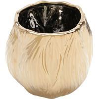 Vaso Decorativo Metalizado- Dourado- 17Xã˜18Cm- Rrojemac