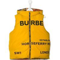 Burberry Kids Colete Com Estampa De Logo - Amarelo