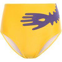 Calcinha Hot Pants Bordada - Amarelo