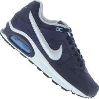 431d643e906 ... Centauro Tênis Nike Air Max Command Leather - Masculino - Azul  EscuroPrata ...