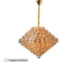 Lustre Diamond- Cristal & Dourado- 37X40X40Cm- Bhevvy