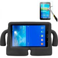 "Capa Boneco Iguy Infantil Para Tablet Samsung Galaxy Tab3 7"" Sm-T110 T111 T113 T116 + Película De Vidro Preto"