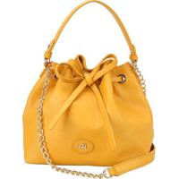Bolsa Transversal Com Laã§O - Amarelo Escuro - 24X23Xana Hickmann