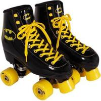 Patins Rollers Retro Quad Batman Bel Sports - Unissex-Preto+Amarelo