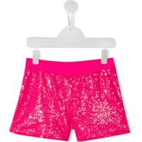 Pinko Kids Short Com Paetês - Rosa