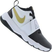 Tênis Nike Team Hustle D 8 - Infantil - Preto/Branco