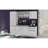 Cozinha Modulada Completa 5 Módulos 100% Mdf Branco - Glamy