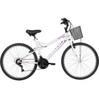 Bicicleta Mobilidade Caloi Ventura Aro 26 2020 - Com Cesto 21 Vel - Branca