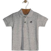 Camisa Polo Infantil Cinza Up Baby