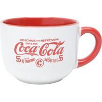Caneca De Porcelana Jumbo Coca-Cola Delicius Drink Branca 450 Ml