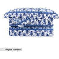 Conjunto De Colcha Evolution Patchwork King Size- Azul &Camesa