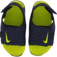 Papete Para Bebê Nike Sunray Adjust 5 Td - Infantil - Azul Esc/Verde Cla