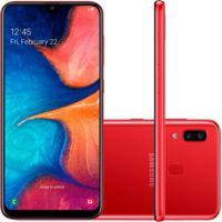 "Smartphone Samsung Galaxy A20 32Gb 6,4"""" 3Gb Ram Camera Traseira Dupl"