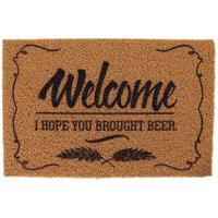 Capacho Super Print Welcome Beer 40 Cm X 60 Cm - Home Style