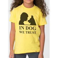 In Dog We Trust - Camiseta Clássica Infantil