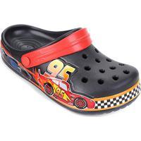 Crocs Infantil Disney Cars And Relâmpago Mcqueen - Masculino-Preto