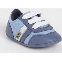 Tênis Com Tiras & Recortes- Azul & Azul Marinhotico Baby